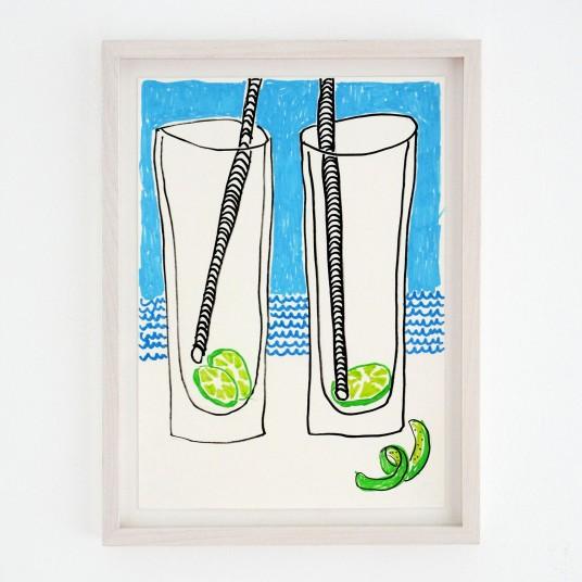 2 empty Gin Tonic (Sketch)
