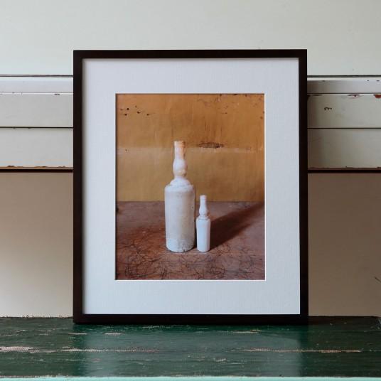 Morandi's Objects. White Bottles