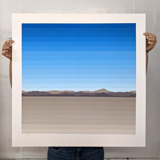 Mojave Desert In 26 Horizontal Colors