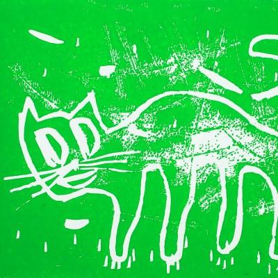 Katze /hellgruen