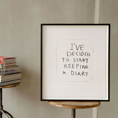 I've decided to start keeping a diary